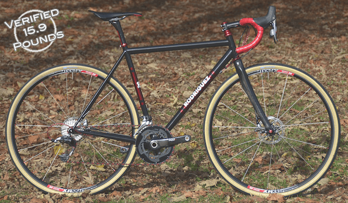 Custom Steel bike with disc brakes by Rodriguez